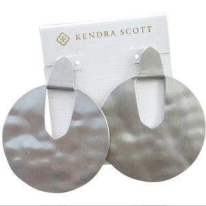 Kendra Scott Diane Silver Statement Earrings